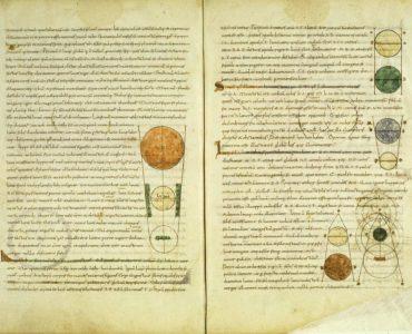 1 Manuscrito medieval da tradução latina de Calcídio do Timeu de Platão. Dominio Públ