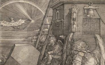 1 Melancolia I (Fragmento), Albrecht Dürer. Dominio Público.