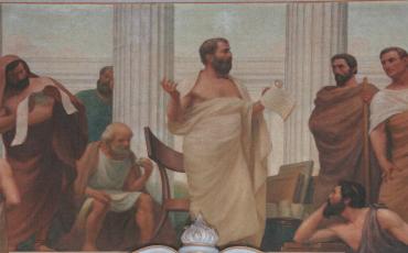 1 Pitágoras. O Início da Ciência (1906) – Veloso Salgado (Sala dos Actos, FCM-UNL), Wikimedia Commons