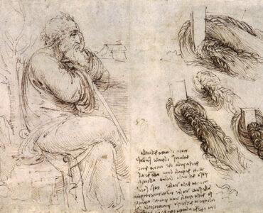 1 Possível autorretrato de Leonardo. Domínio Público