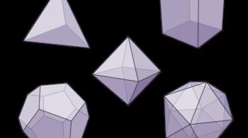 1 Fotode capa. Os 5 Sólidos Platónicos. Creative Commons. Foto de Capa